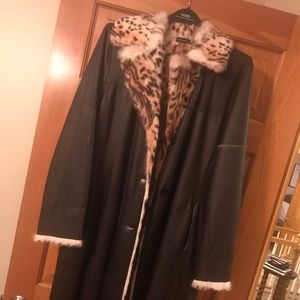 Jackets & Blazers - Black Lapin Fur Coat